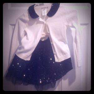 Max Studio Sweater with sequin skirt